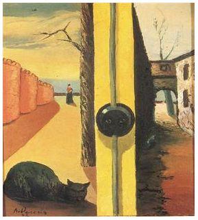 António Dacosta (1914-1990), artista portoghese. Melancolia, 1942. Olio su tela.