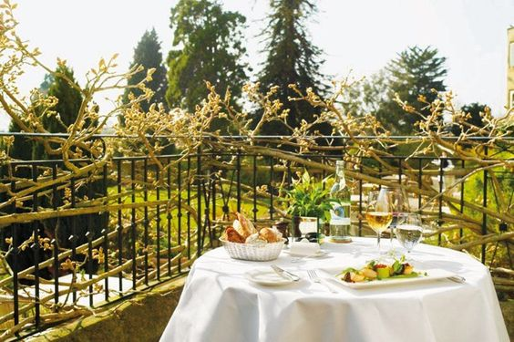 Alfresco dining at The Bath Priory, Bath
