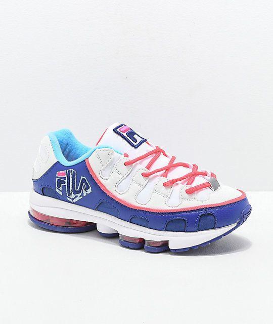 FILA Silva Trainer White, Pink \u0026 Blue