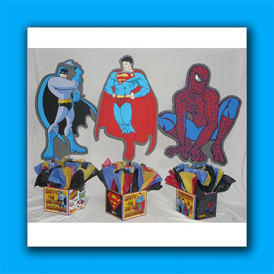 DIY & Supply Kit Medium 24 Personalized Superheroes Birthday Party ...