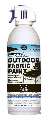 Black Outdoor Fabric Paint- 13.3 oz cans