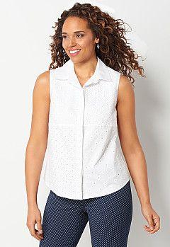 White Eyelet Shirt, 9-0036182911, White Eyelet Shirt Main View PGP