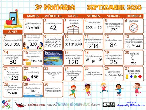 Calendario Tercero ABN – Septiembre 2020