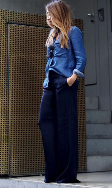 Look: Camisa Jeans + Pantalona:
