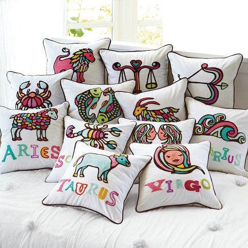 Astrology Pillows! Might be neat with the Chinese New Year, too.