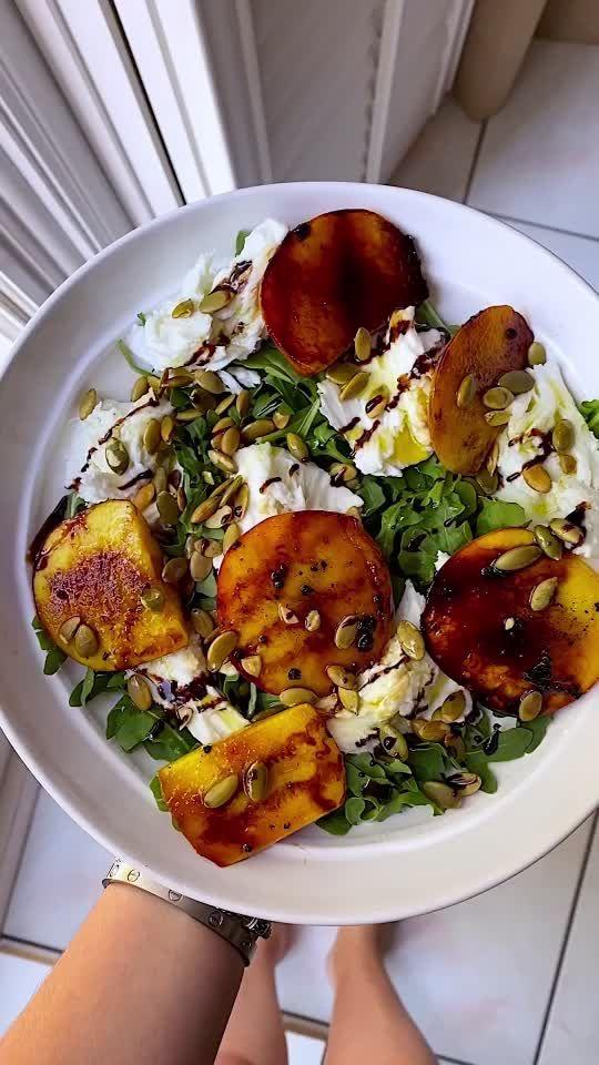 Everything Delish Everything Delish On Tiktok Bbq Peach Mozzarella Salad Fashion101 Halloween Clean Eating Recipes Healthy Salad Recipes Healthy Recipes