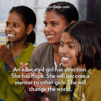 An educated girl has direction: