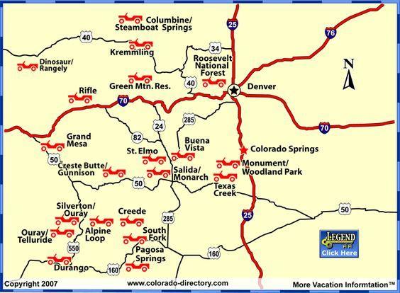 Colorado Colorado Jeep 4wd Map Off Road Rentals Tours Trails