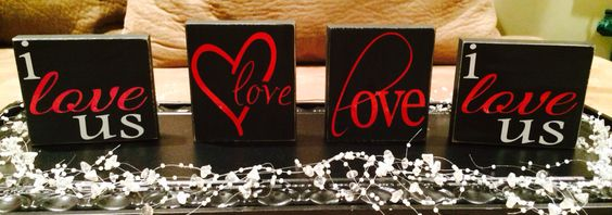 Valentines blocks $5 each.  Find me at www.facebook.com/vinyllettersbykristin