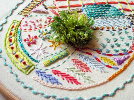 Advanced Embroidery Sampler by Rebecca Ringquist - Creativebug - class to teach you these advanced stitches