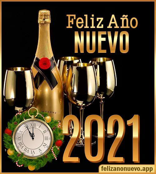Deseos para Año Nuevo 2021 Imágenes de Felices Fiestas. Tarjetas Saludos para la familia para brindar