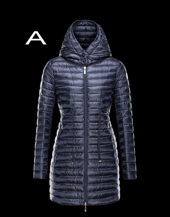 Moncler Barbel Women Lightweight Hooded Down Parka Outerwear Navy