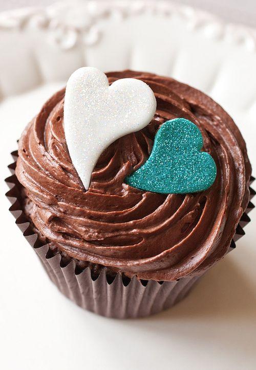 Chocolate Ganache Wedding Cupcakes by Cupcake Lust