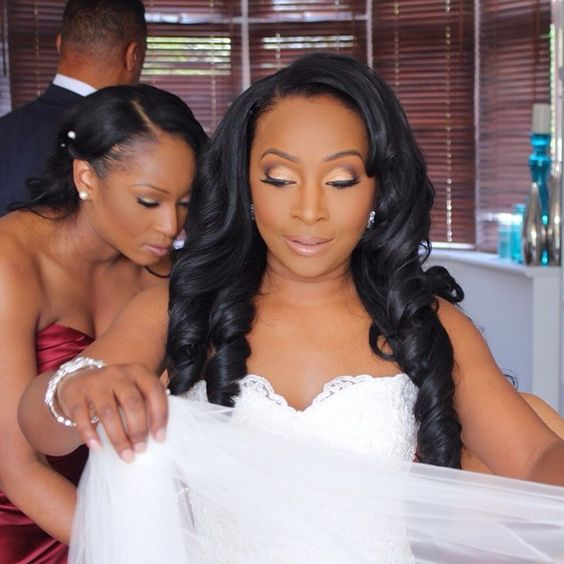 Wedding Hair Style Weave: #tbt The Important Bridal Prep!!! Cleo's Veil Was Gorgeous