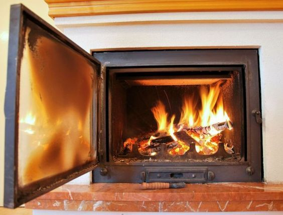 How To Clean Glass Fireplace Door With Ash Fireplace Glass Doors Glass Fireplace Fireplace Doors