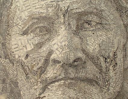 Maps as portraits - Matthew Cusick