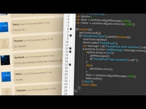 Tutoriel Jquery Php Creer Un Tchat En Ajax Php Tutoriel Tutoriel Video Informatique