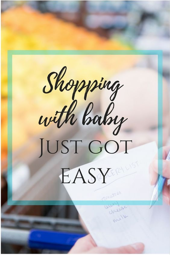 Best Mom Hack Ever: shopping with baby made easy.