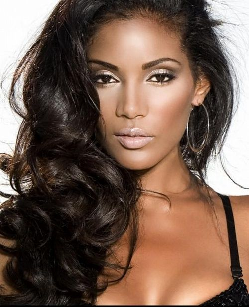 Wondrous Hair To The Side Long Hair And Black Women On Pinterest Short Hairstyles Gunalazisus