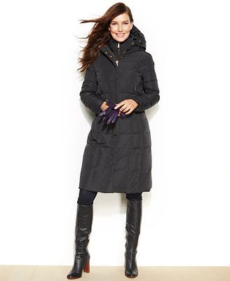 Cole Haan Hooded Long-Length Down Puffer Coat | Coats for me