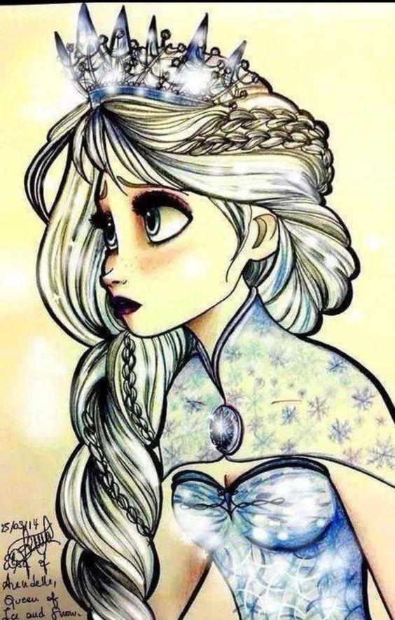 ... love this snow queen fan art art draw love ice queen frozen queen