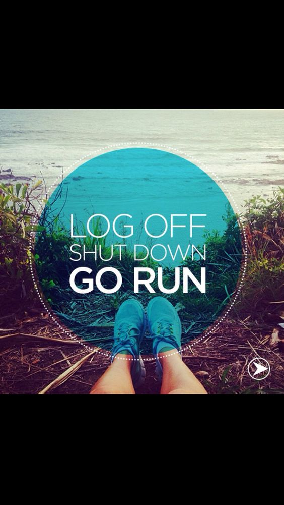 Log off and run