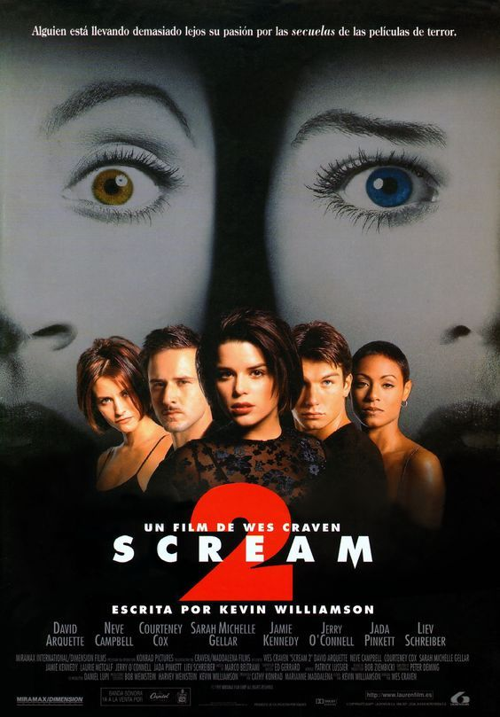 Scream 2 1997 De Wes Craven Tt0120082 Scream 2 Scream Movie Scary Movies