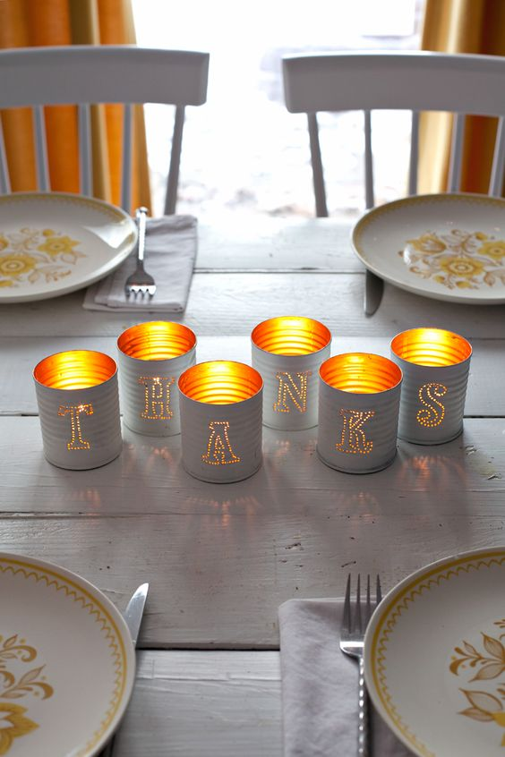 Tin-punched candle holders— they're practically free to make!: