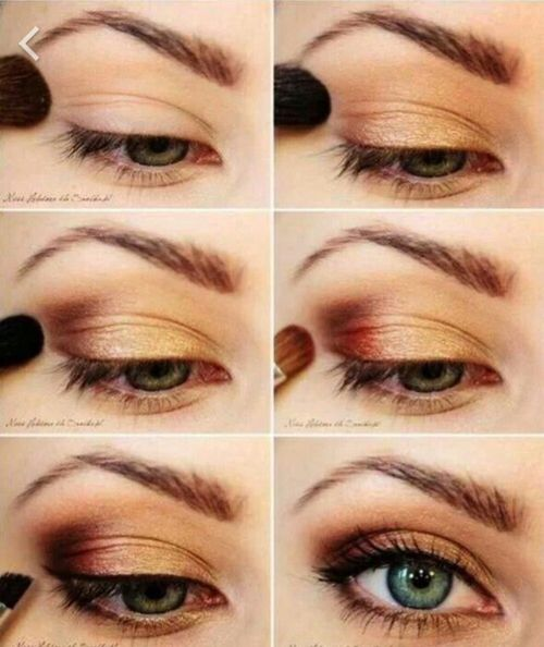 Gold warm eyeshadow perfect for Fall - reminds us of the make up look Cara Delevingne had for the British Fashion Awards 2014...x