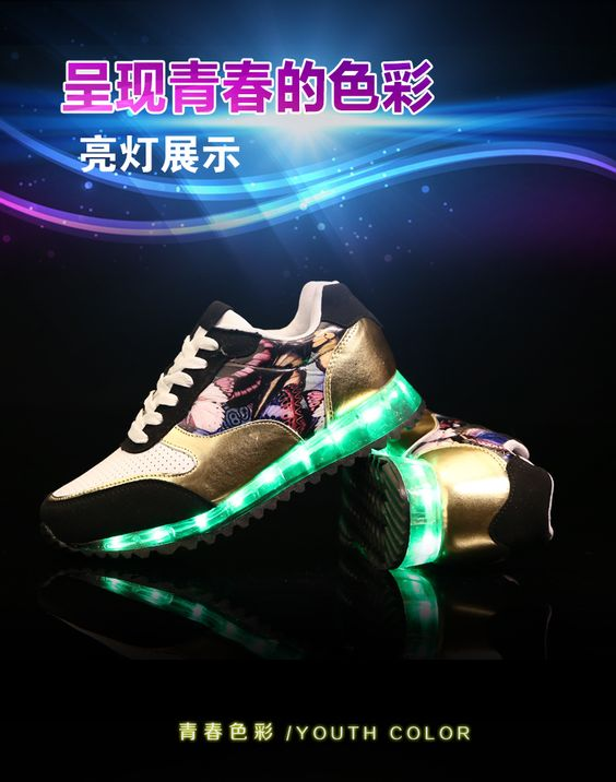 5 40 size red 3 colors women chaussures femme basket led luminous shoes for adults casual - Basket Femme Color