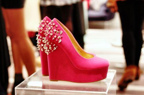 Spikes, pink, wedges<3