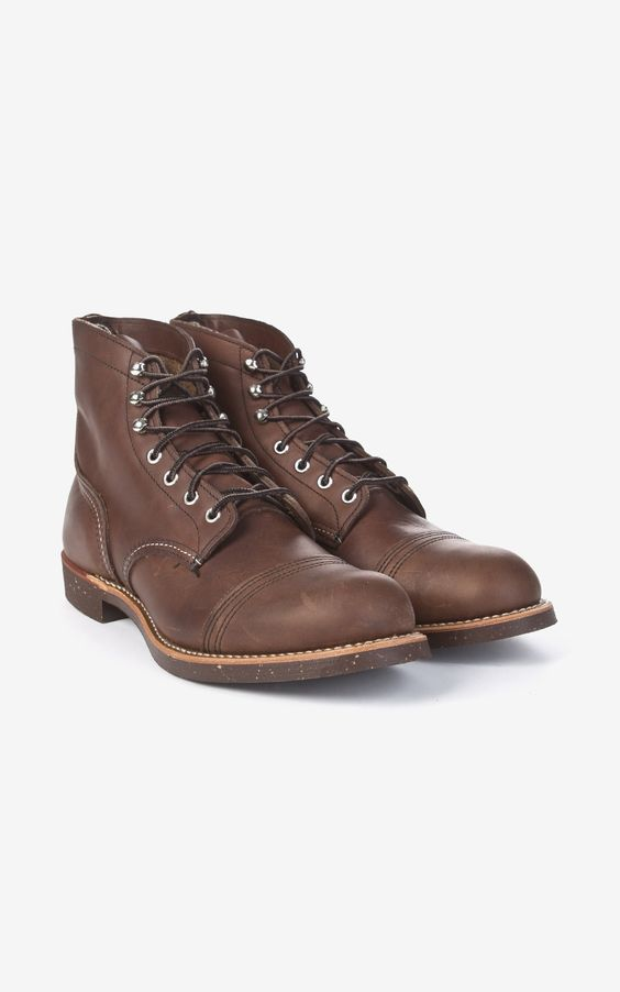 Red Wing Shoes 8111D Iron Ranger Amber Harness | Shoes, Products ...