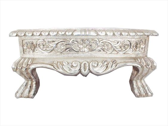 Handmade handcrafted sterling silver engraved chowki for for Handmade useful items