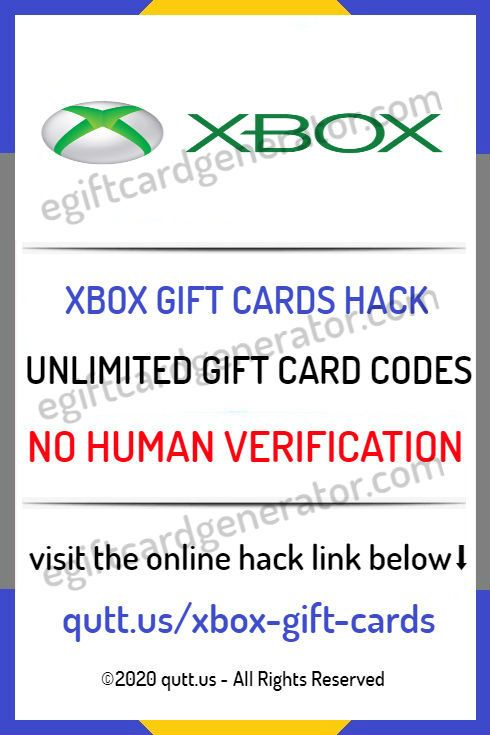 Free Xbox Gift Cards No Human Verification 2020 Xbox Gift Card Xbox Gifts Free Gift Card Generator