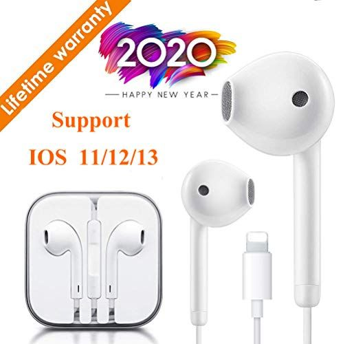 Lighting Connector Earbuds Earphone Wired Headphones Headset With Mic And Volume Control Isolation Noise Compatible With Apple Iphone 11 Pro Max Xs Max Xr X 7 8 Wired Headphones Earphones Wire Earbuds