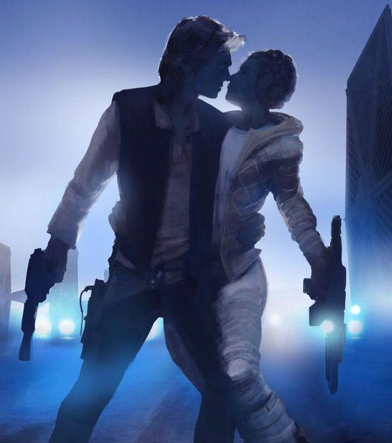 Han SOLO and Leia ORGANA | STAR WARS: Fan Art - Star Wars Canvas - Latest and trending Star Wars Canvas. #starwars #canvas #starwarscanvas - #StarCitizenHammerhead