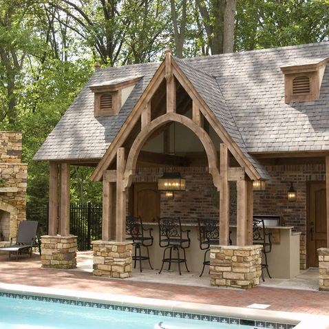 Pavilion design arches and pavilion on pinterest for Outdoor kitchen pavilion designs