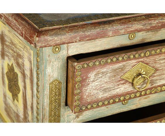 Стол квадратный (2 ящика) - дерево манго, 40 x 40 x 77 см | Westwing Интерьер & Дизайн: