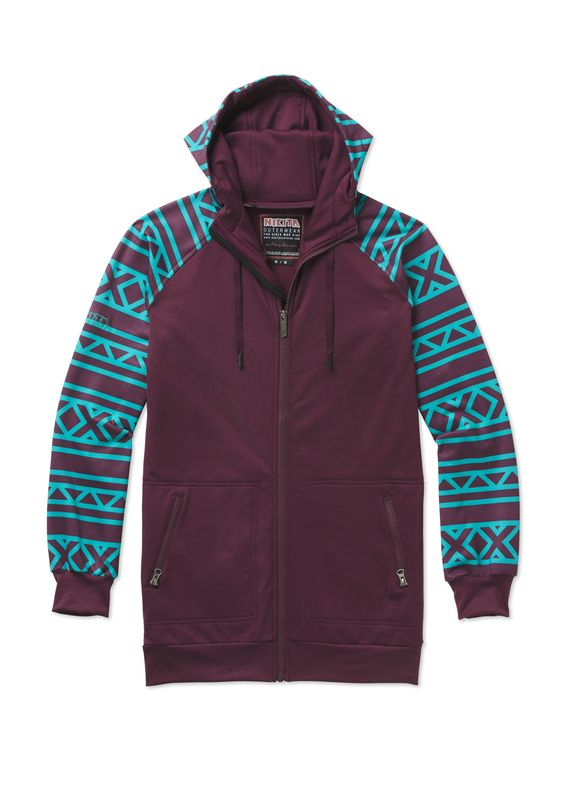 Long fit full zip and smooth wicking Fallen Lead Fleece Jacket