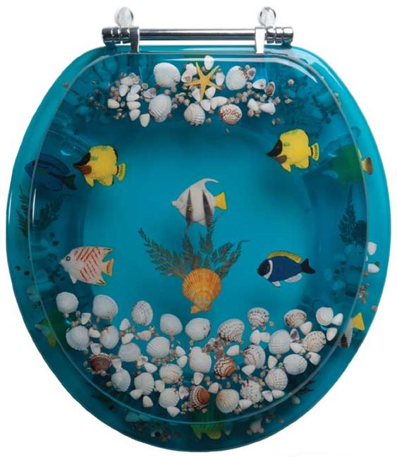 Pinterest the world s catalog of ideas for Fish toilet seat