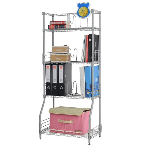 Amazon.com: LANGRIA Multi-functional Bookshelf Hallway Storage Organization Rack Clothes Racks Shelf Unit, Silver: Kitchen & Dining