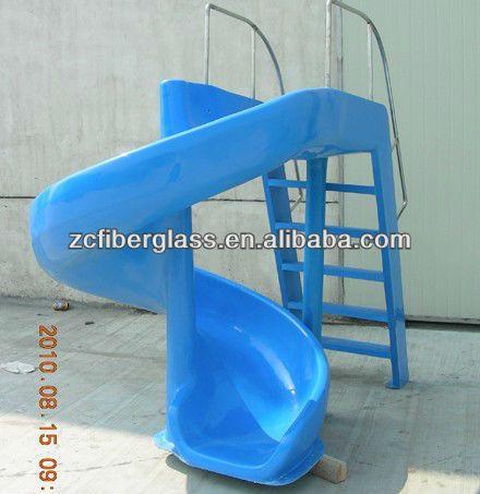 Fiberglass pools water slides and pools on pinterest for Custom pool water slides
