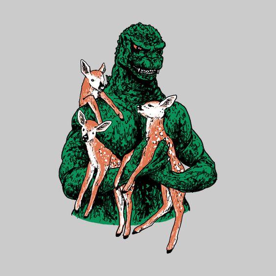 Fawns Meet Kaiju - NeatoShop