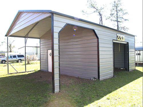 Metal Carport And Storage Shed Combos Probuilt Steel Buildings Utility Buildings Metal Buildings Carport