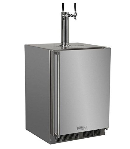 Marvel MO24BTS2RS Outdoor Built-In Beer Dispenser, Twin Tap, Solid Door, Right Hinge, 24', Stainless Steel * Read more  at the image link.