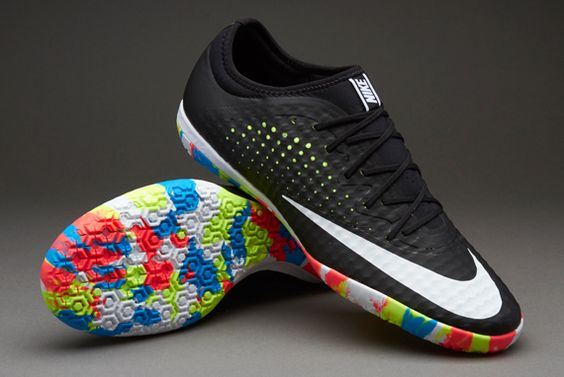 Nike MercurialX Finale Street IC - Black/White-Volt-Black