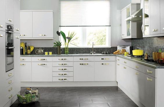 Home and kitchens on pinterest for Readymade kitchen