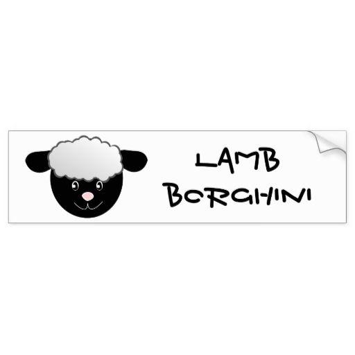 Lamm Borghini lustiges Schaf-Wortspiel Autoaufkleber
