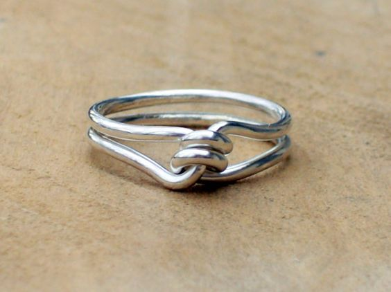 Hey, I found this really awesome Etsy listing at https://www.etsy.com/listing/257207932/silver-promise-ring-silver-knot-ring