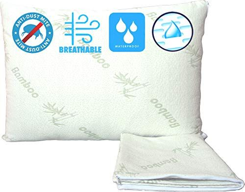 Waterproof Bamboo Pillow Protectors Standard Cooling Anti Allergy